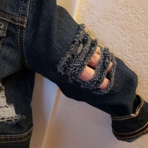 The Children's Place Jackets & Coats - Toddlers distressed jean jack with pearls